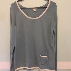 Beautiful Blue and White  Sweater, M, EUC